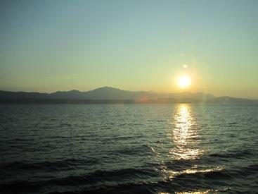 picture of sun Dubrovnik Croatia