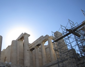 pictures of the sun Acropolis Athens Greece