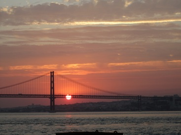 pictures of sunset Lisbon Portugal