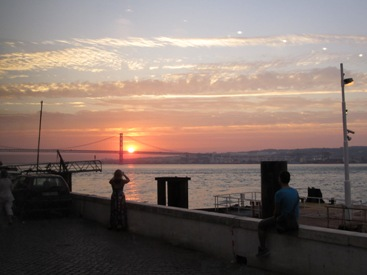 picture of sun Lisbon Portugal