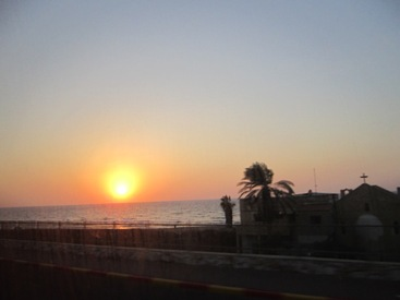 pictures of sunset Tel Aviv Israel
